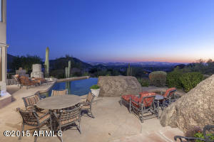 Entertain by the crystal blue pool with magnificent views of the Valley serving as your backdrop