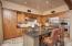 Open kitchen with breakfast bar