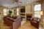 Designer Niches, cozy fireplace! Bamboo Flooring.