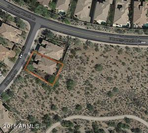 Aerial View of more spectacular lot backing and siding the desert with incredible mountain views