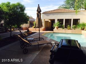 Front patio, pool and built in bbq