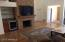 Open concept great room with wet bar
