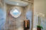 Check out the marble tile work in this oversized standup shower!