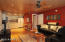 Great room and kitchenette in Casita