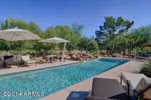 Gorgeous pool with expansive golf course views