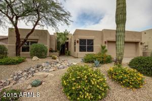Beautiful desert landscaping for easy to care for yard.