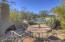 Backyard with bullt in BBQ & Kiva Fireplace