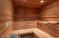 Ahhhh! now this is living. relax in your dry sauna or steam room, as you unwind after a long day.