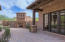 Another close up of the front courtyard that is adjacent. to the guest casita.