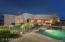 another view of the pool and back yard entertaining spaces.