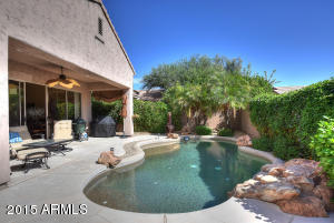 Perfect North Scottsdale winter home has a backyard paradise with south-facing pebble pool!