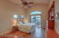 2nd mini master upstairs with built-ins and view from private balcony, solid wood floors!