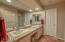 2nd Mini master bath with dual kohler sinks, recessed lighting and huge walk in closet