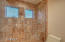 2nd bath tile shower with clear glass