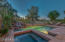 Heated spa and pool with view fencing to golf course and views