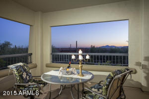 The uniquely situated balcony on this particular lot is one of the Owners' favorite, much-cherished home features! Not only do you enjoy incredible 180 degree unobstructed Valley Views, but your balcony per se is a truly private setting, with no other units visible while you are partaking of the marvelous panorama unfolding around you.