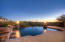 Infiniti edge pool with views to Pinnacle Peak