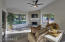 Family Room opens to Kitchen w/ Backyard Views