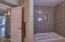 Custom Herringbone Shower, New Fixtures, Tub, Toilets