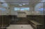 Huge Double Person Master Shower with Rain Head and Slab Granite Shower Bench!