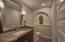 Beautiful Power Room w/ Slab Stone Counters!