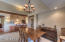 Dining area of Great Room open to kitchen.