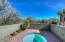 Great privacy for the hot tub. View toward lawn and the Sonoran Club.