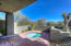 Hot tub portion of patio. Remote control allows convenient operation of the hot tub from the patio.