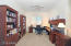 This spacious den/office has plenty of room