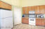Plenty of storage in this kitchen...lots of cabinets and a pantry!