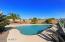 Nice yard with pool and views