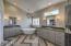 Freestanding Soaking Tub, Double Vanities w/ Slab Granite
