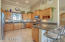 Granite slab and stainless appliances