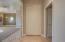 Sliding doors to walk-in closet