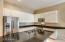 Kitchen island & stainless steel appliances