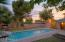 private back yard with pool. Really nice and large. Plenty of room for kids to play and pets