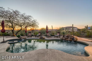 Enjoy the backyard while overlooking the beautiful pool, water feature and taking in the incredible Arizona sunsets.