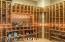 Temperature controlled wine room.
