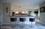 Silestone Dining Counter and Glass Backsplash