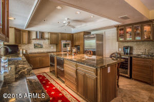 Designer Cherry Cabinets with lighting, drawer storage, extra large lazy Susan.