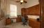 Den with Built-In Wood Desk & Cabinets, Two Work Stations