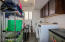Large Laundry Room with built in cabinetry.