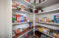 EXTRA large walk in Pantry.