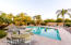 Lots of space around the pool for seating or dining