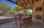 Extended covered patio with pinto paver flooring.