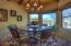 East-facing breakfast room for morning sunshine.