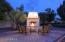 Night outdoor fireplace
