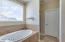 Master bathroom with view