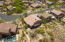 Aerial view of back of this home sitting on a view lot in a gated community!