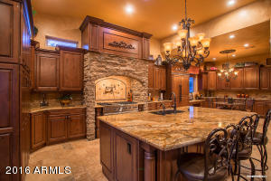 Beautiful kitchen with Rustic Alder cabinets and high-end finishing.